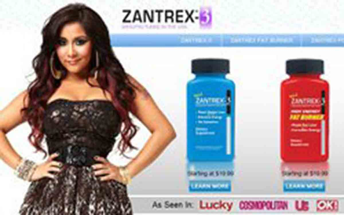 Snooki zantrex3 secret revealed