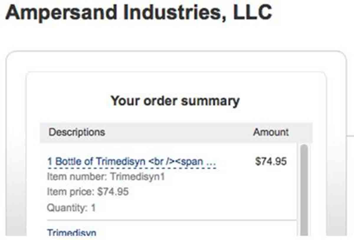Ampersand Industries order page