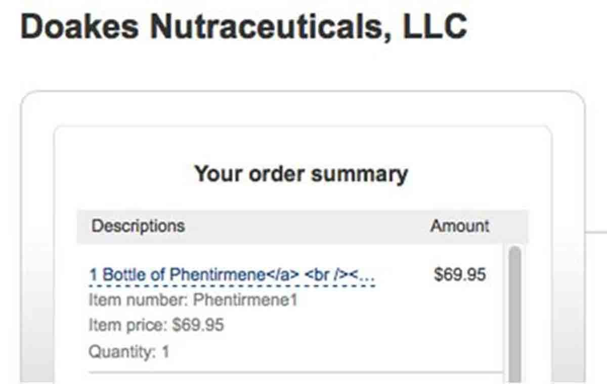 Doakes Nutraceuticals order page