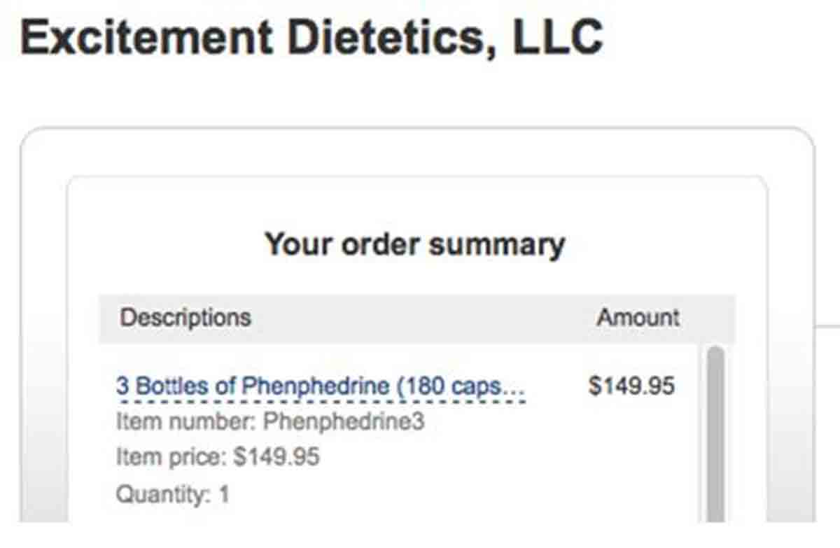 Excitement Dietetics order page