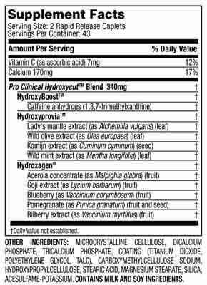 Hydroxycut Label
