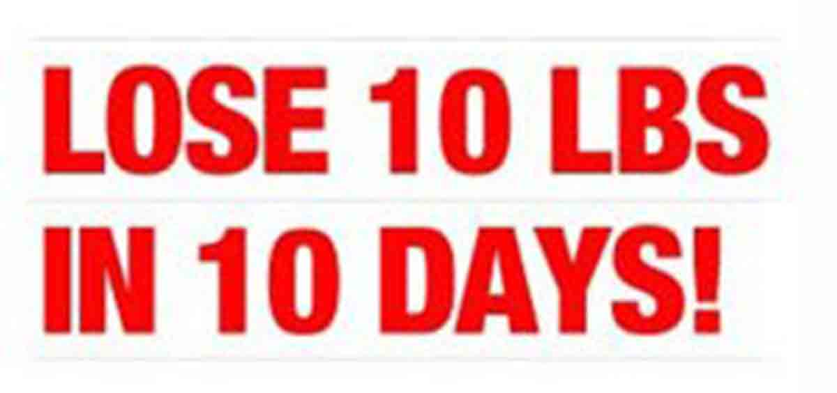 how to lose 10lbs in 10 days diet