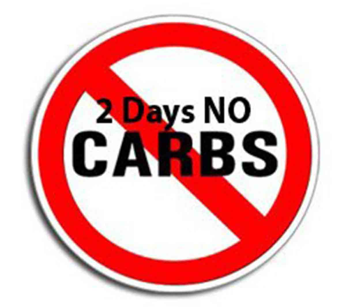 No carbs for 2 days!