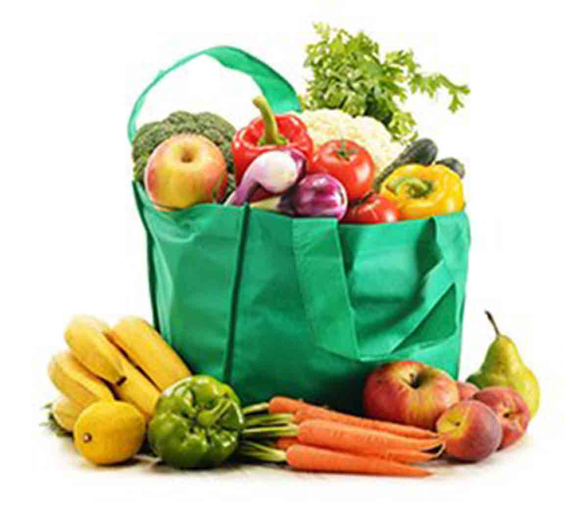 Fruit and veg in a bag
