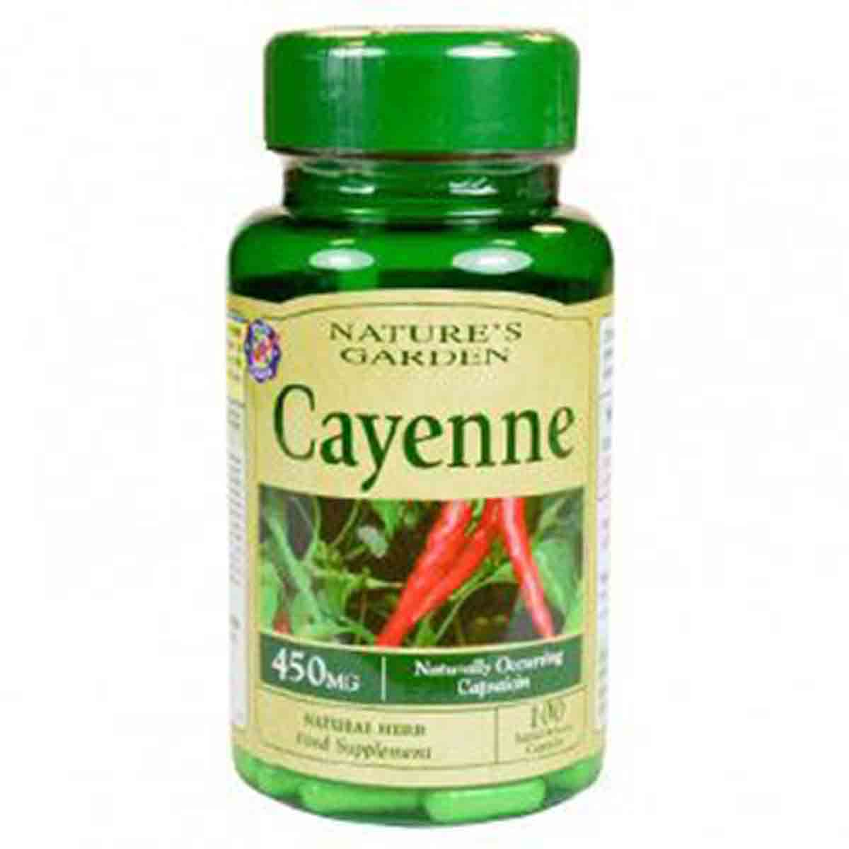 Nature's Garden Cayenne Capsules New
